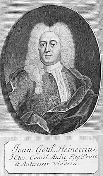 Johann Gottlieb Heinecke o Juan Teófilo Heinecio o Juan Heinecio